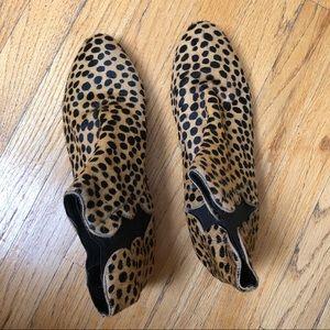 Loeffler Randall Leopard Print Booties Size 9.5